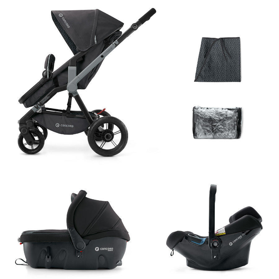 CONCORD Barnvagn Wanderer Travel-Set Raven Black
