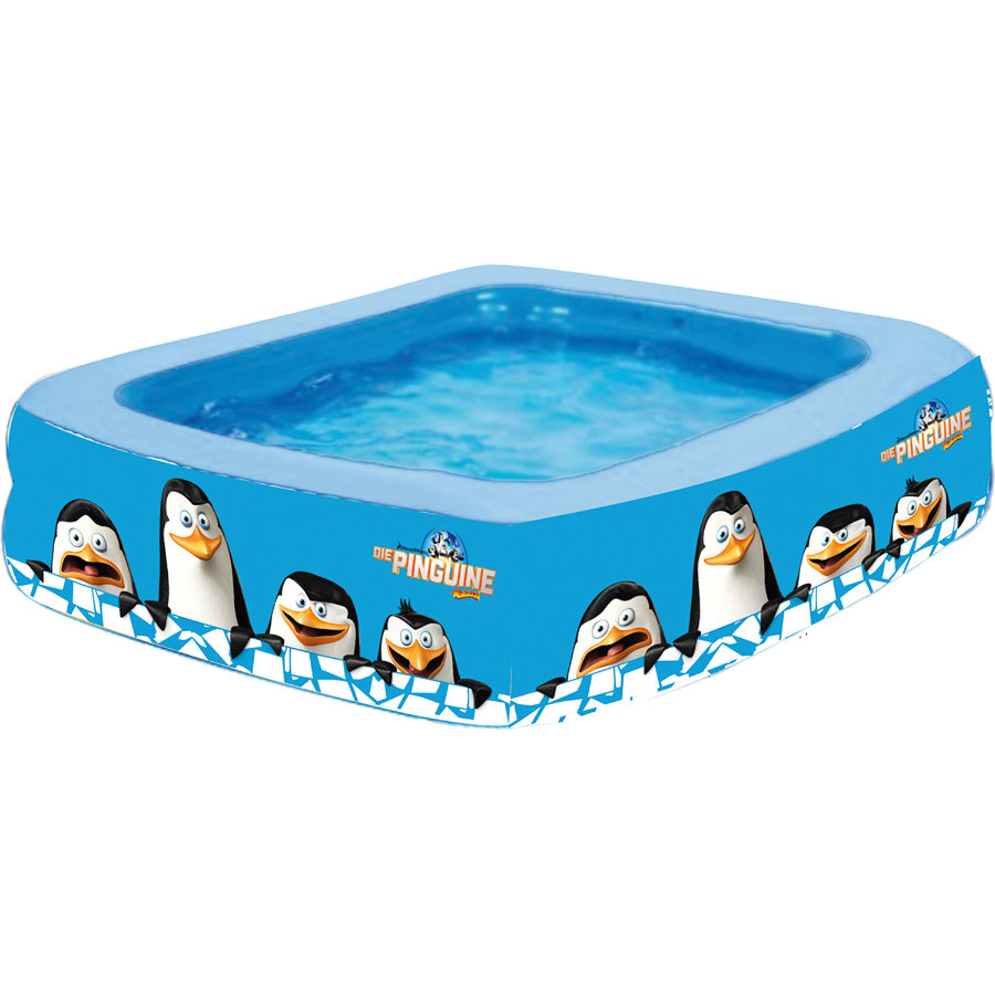 HAPPY PEOPLE Die Pinguine aus Madagascar - Quadrat-Pool, ca. 150x150x50cm