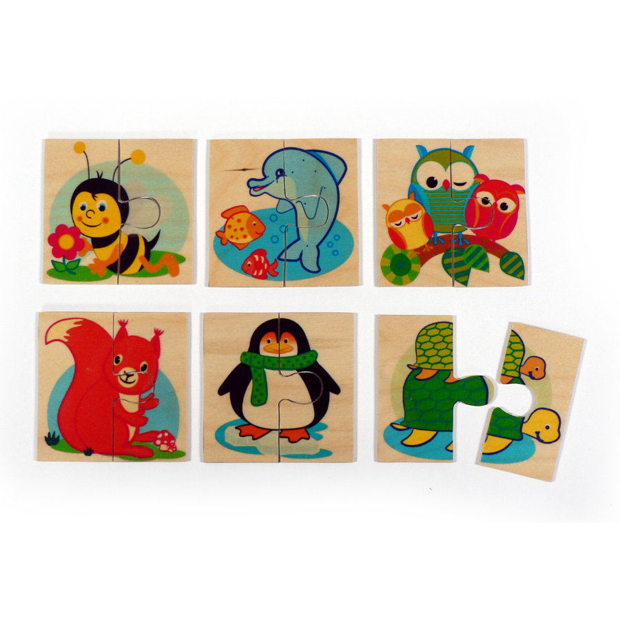 HESS Lot de 6 puzzles, Animaux