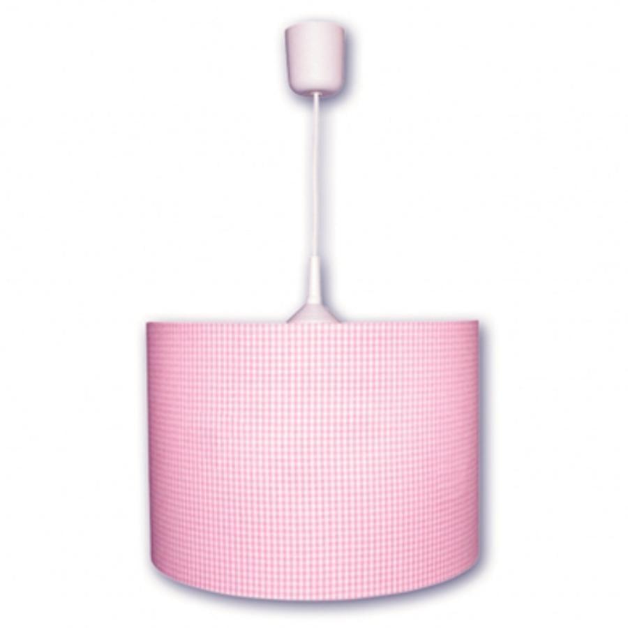 WALDI Lampa sufitowa Vichy Karo pink