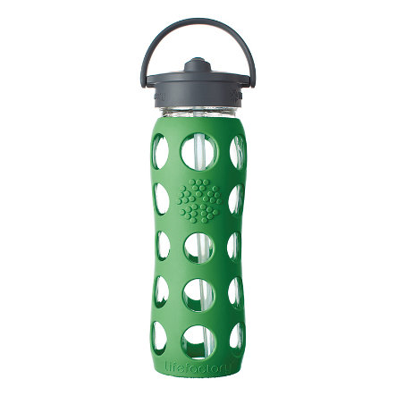 lifefactory Trinkflasche Straw Cap grass green 650 ml