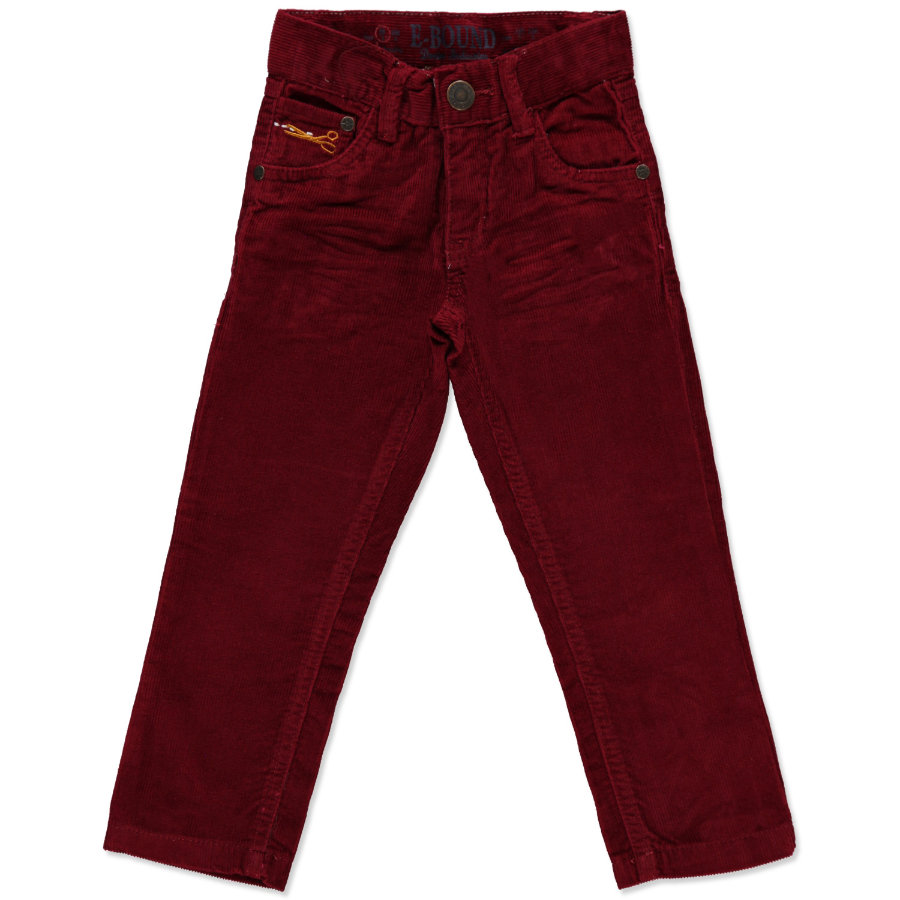 E-BOUND Boys Mini Cordhose wine red
