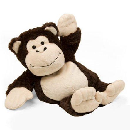 GREENLIFE Beddy Bear Plush Deluxe Carly the Monkey for the Microwave