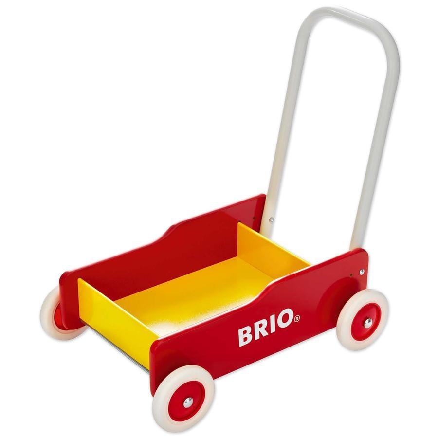 BRIO Wózek do nauki chodzenia kolor czerwony/żółty 31350