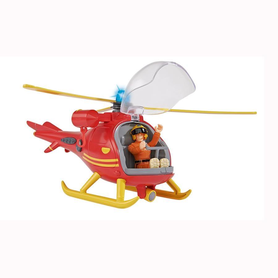 Feuerwehmann Sam Hubschrauber mit Figur Spielzeugautos