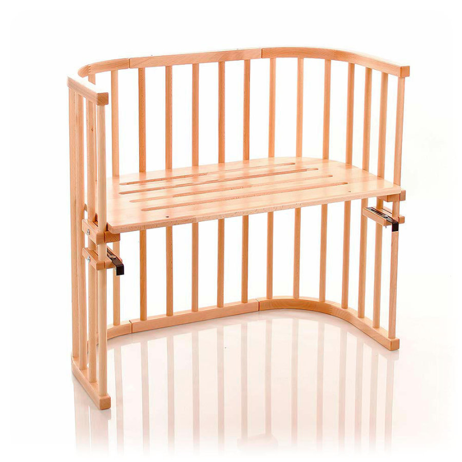 TOBI Babybay Original Bed Solid Beech nature with slotted baseplate