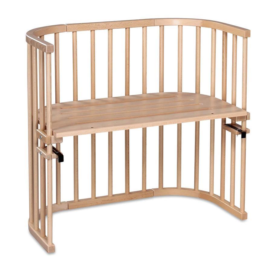 TOBI Babybay origineel bed extra geventileerd– beukenhout massief naturel gelakt