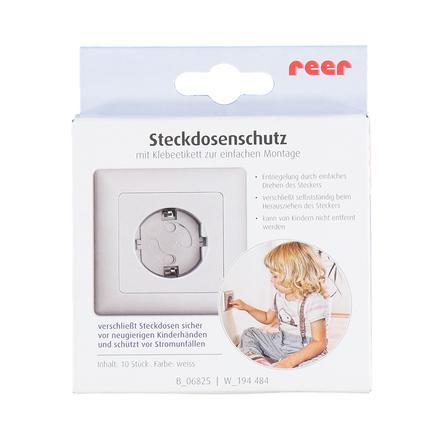 Reer Steckdosenschutz klebbar weiß 10 Stück NEU