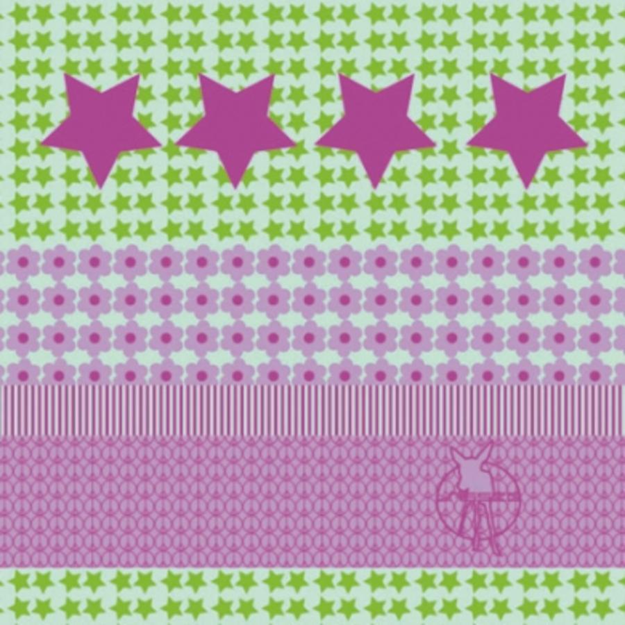 LÄSSIG Twister Kids Multifunctie doek Starlight magenta