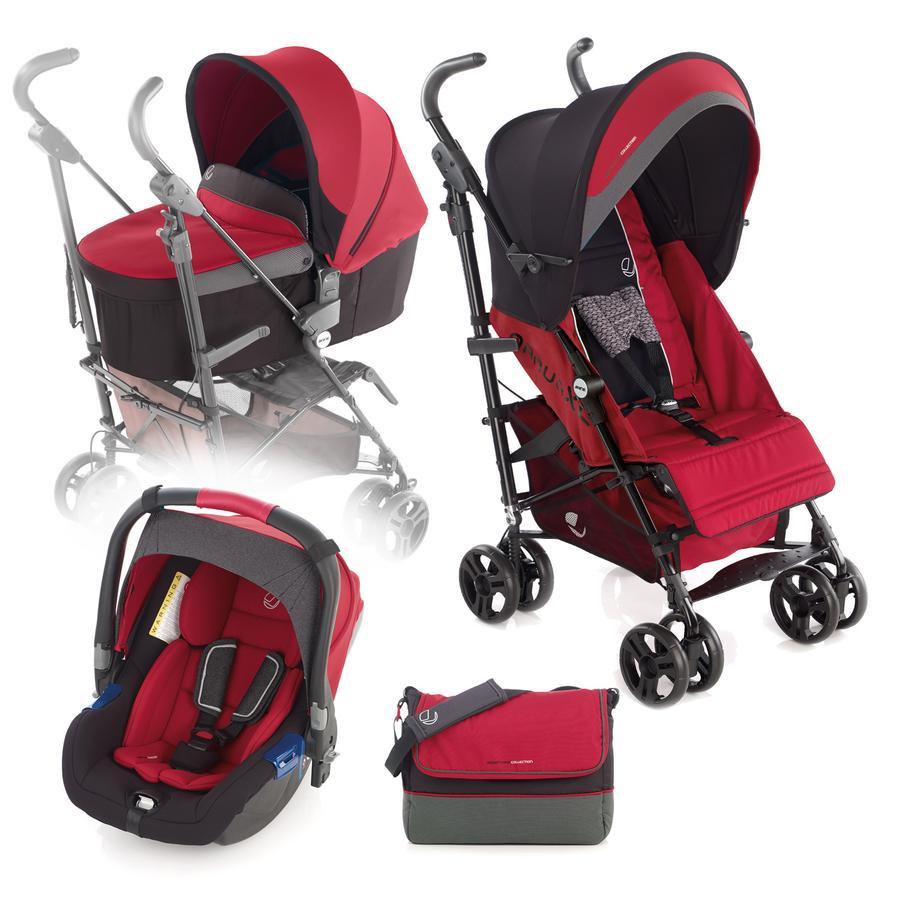 JANE Buggy Nanuq XL inkl. Babyschale Koos und Tragewanne Nano Scarlet