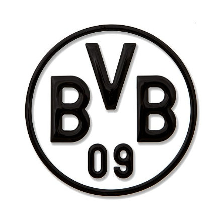 Pegatina para coche BVB, negra
