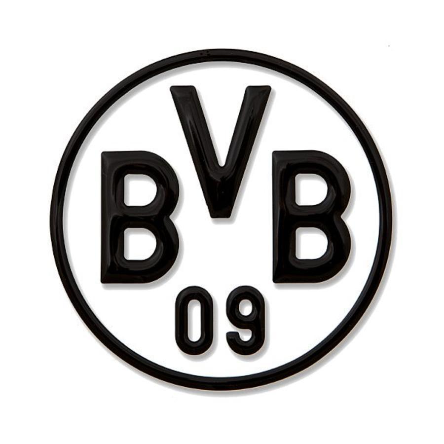 Naklejka samochodowa BVB, czarna