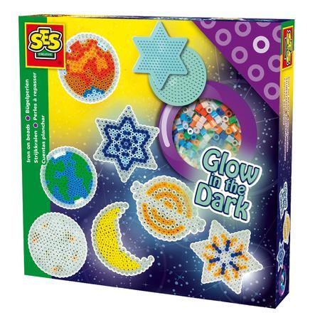 SES Creative® Bügelperlenset - Sterne im dunkeln leuchtend
