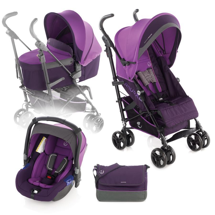 JANE Buggy Nanuq XL inklusive Babyschale Koos und Tragewanne Nano Plum