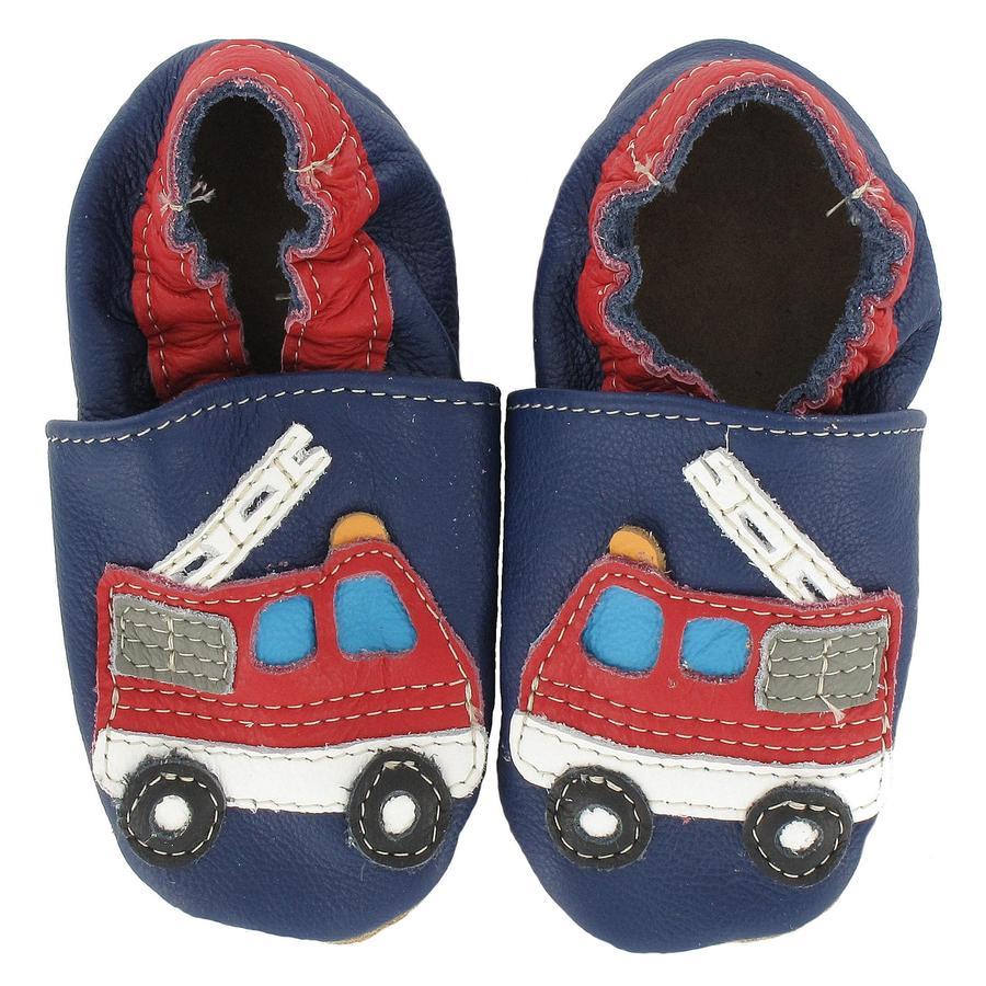 BaBice Chaussons bébé pompier bleu