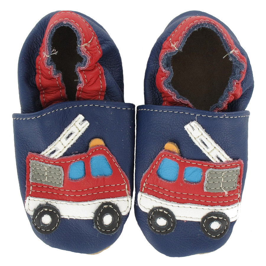BaBice Kojenecké boty hasiči modré