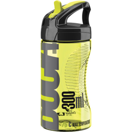 ELITE Gourde Bocia, transparent, jaune fluo, 350 ml