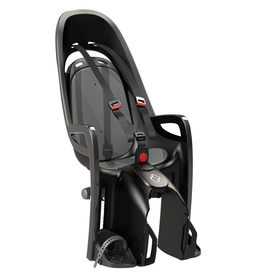 hamax Fahrradsitz Zenith mit Gepäckträgeradapter Grau/Schwarz