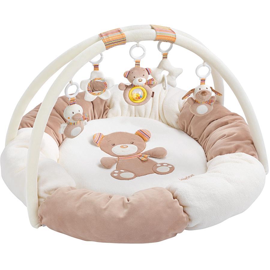 babyFEHN Aktivitetsteppe med kant 3-D - Teddy