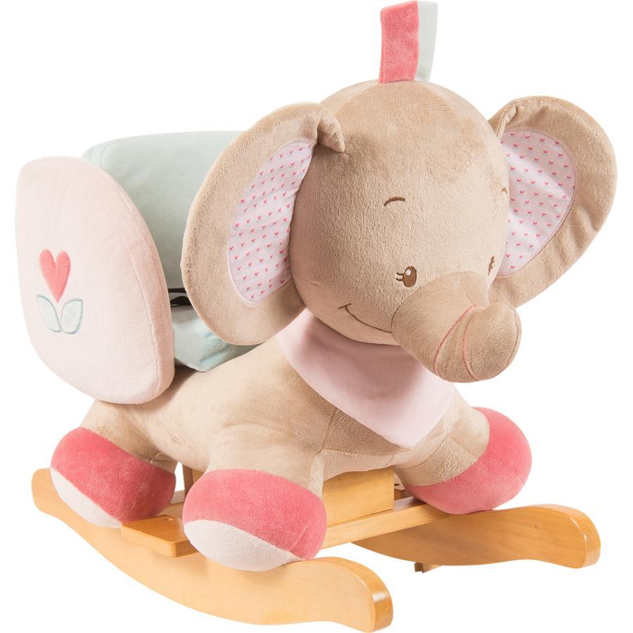 nattou animal bascule charlotte rose rose l 39 l phant. Black Bedroom Furniture Sets. Home Design Ideas