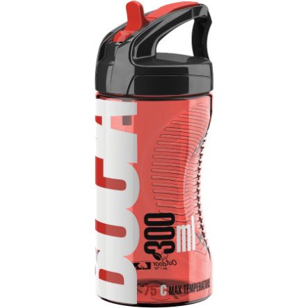ELITE Trinkflasche Bocia Transparent-Rot 350ml