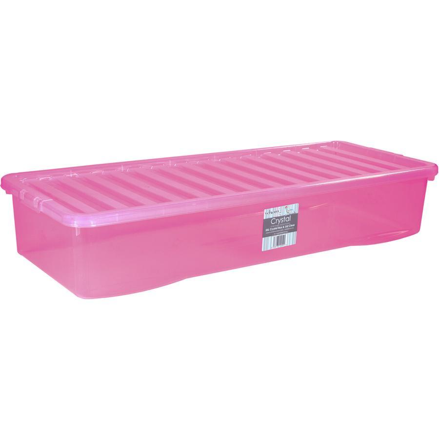 WHAM Unterbettbox mit Deckel 55L, pink