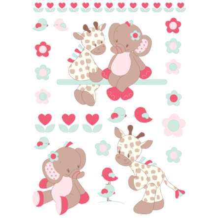 NATTOU Charlotte & Rose - Sticker