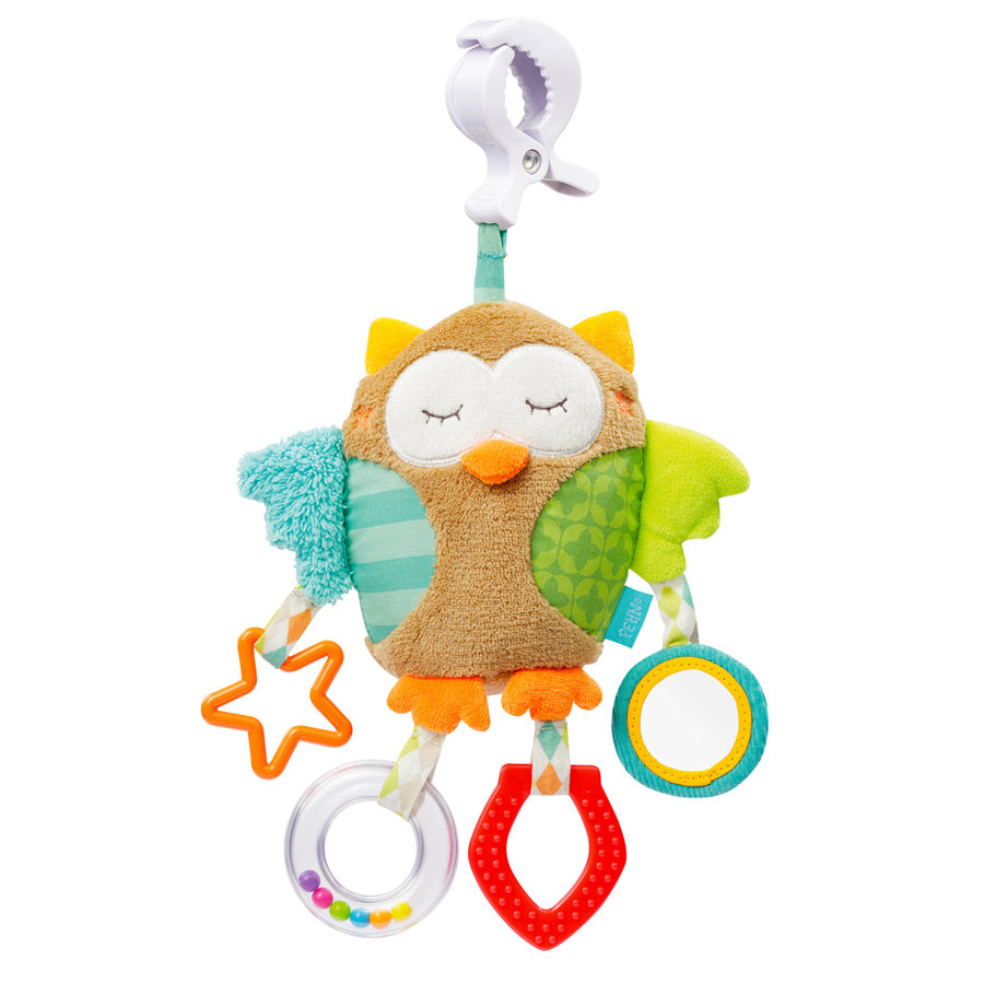 FEHN Peluche Activity Civetta con mollettone - Sleeping Forest