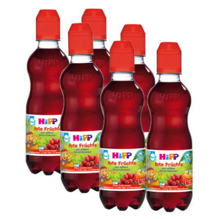 HiPP Bio Red Fruits with Still Mineral Water 6x300ml