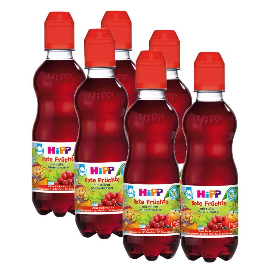 HiPP Bio Rote Früchte mit stillem Mineralwasser 6 x 300 ml