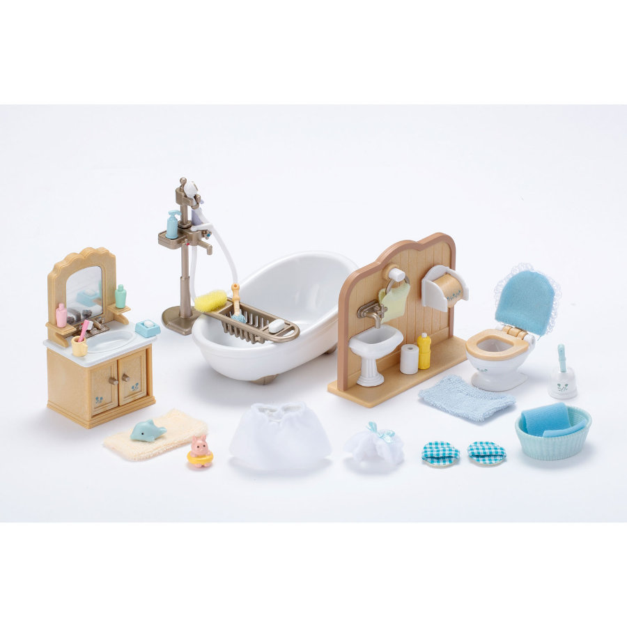 SYLVANIAN FAMILIES Room Sets - Country Bathroom Set