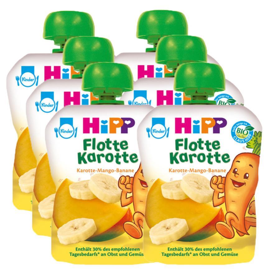 HiPP Flotte Karotte mit Mango-Banane 6 x 90 gramm
