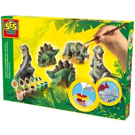 SES Creative® gipsfigurer - dinosaurer