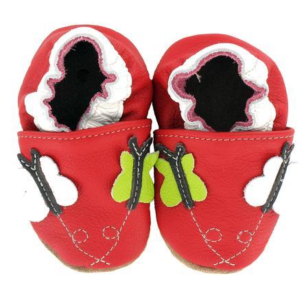 BaBice Chaussons bébé papillon rouge