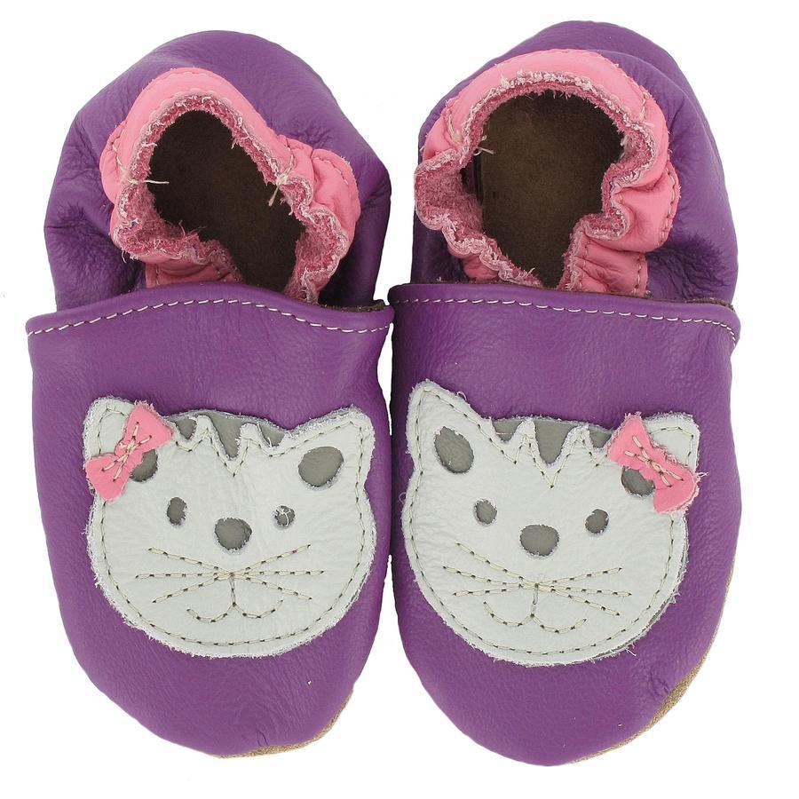 BaBice Chaussons bébé chat violet