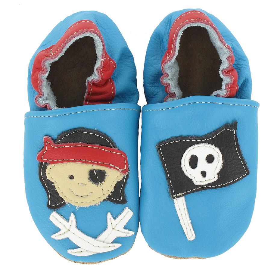 BaBice Chaussons bébé pirate bleu clair