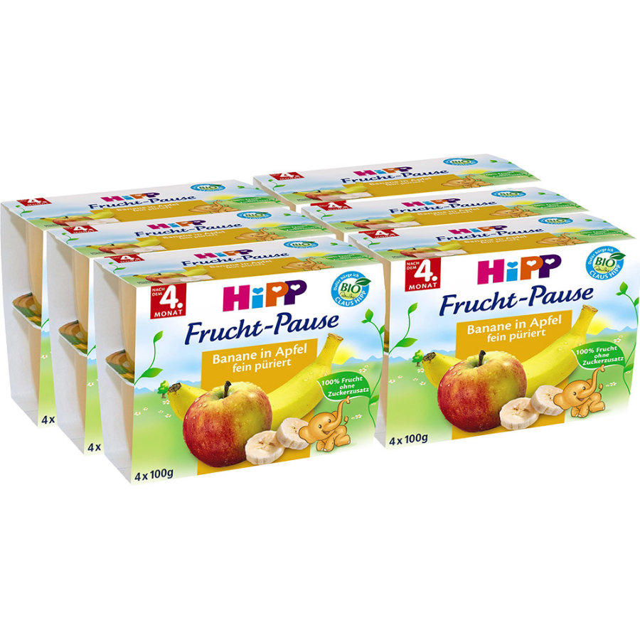 HIPP Bio Fruit Break Banana and Apple 4x100g 6 pcs.