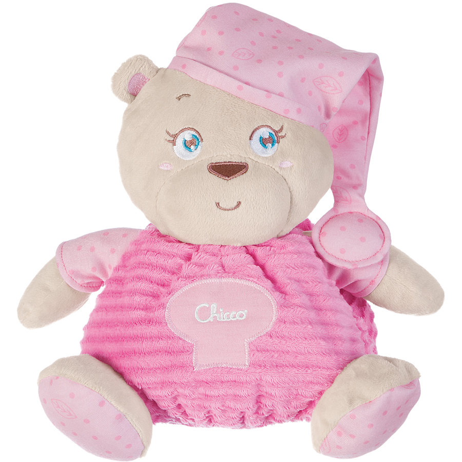 CHICCO Peluche Ours, rose 30 cm