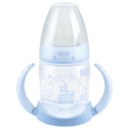 NUK Biberon d'apprentissage First Choice, polypropylène, embout souple, 150 ml, bleu