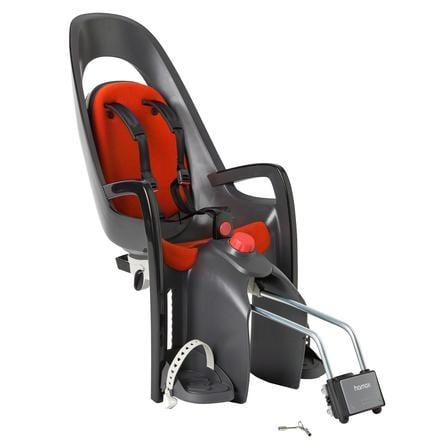 HAMAX Silla para bicicleta Caress con soporte bloqueable Gris/Rojo