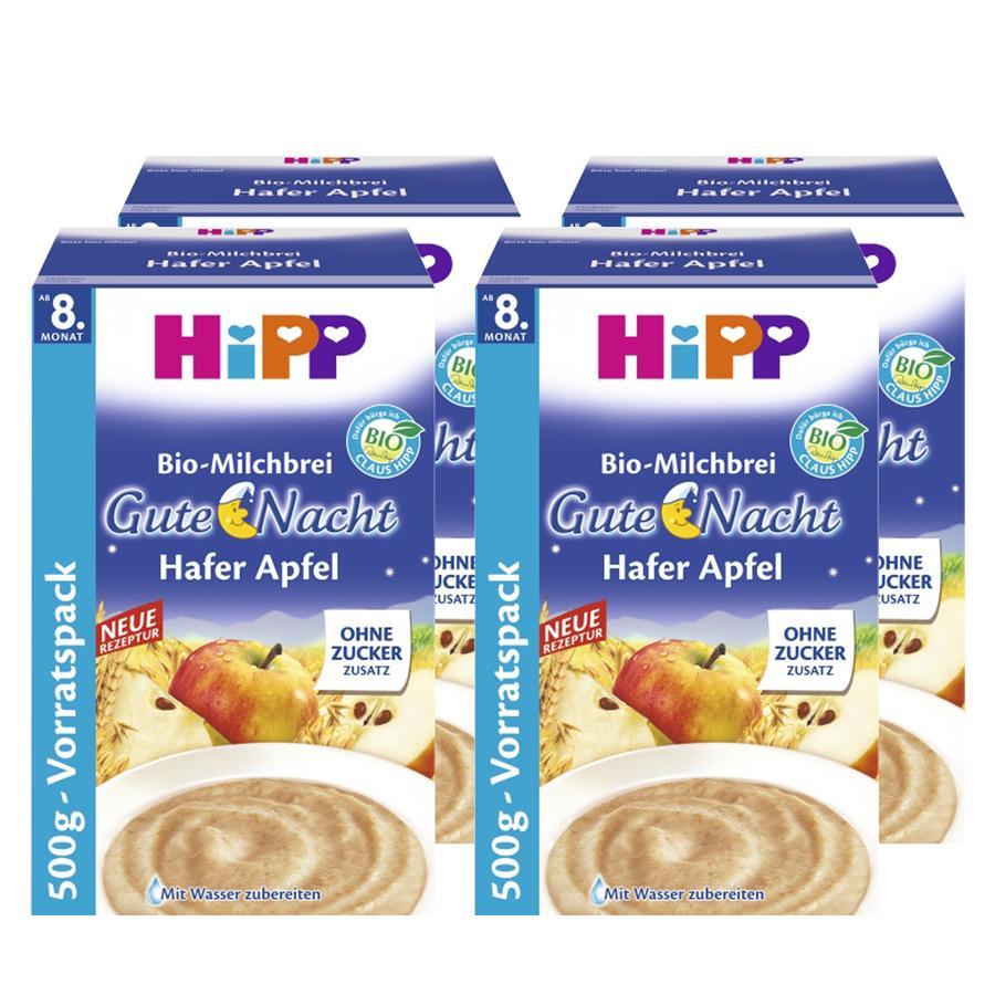 HiPP Bio-Milchbrei Gute Nacht Hafer Apfel  4 x 500 g ab dem 8. Monat