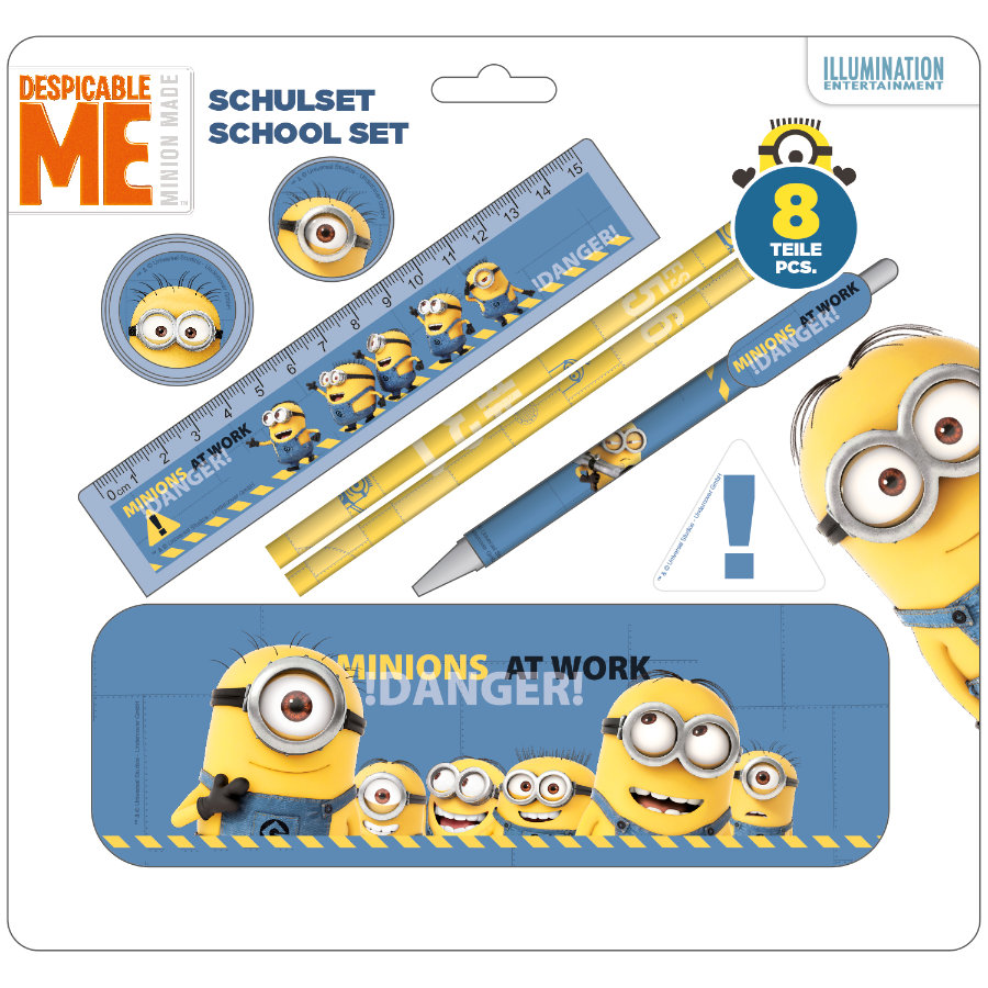 UNDERCOVER Schoolset 8-delig - Minions