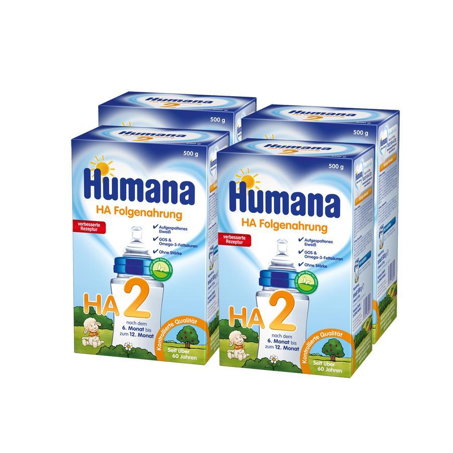 Humana HA 2 GOS stärkefrei 4 x 500g