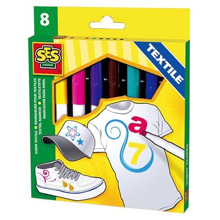 SES Creative® Textilstifte 8 Farben