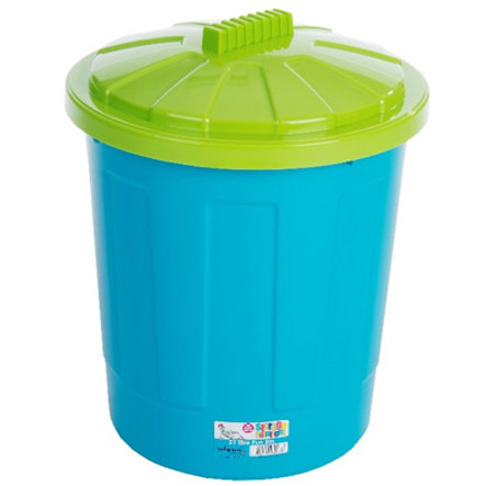 WHAM Fun Tunna 21L Bin Blueberry & Lid Lime