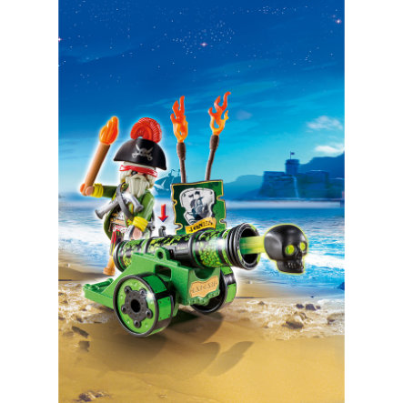 PLAYMOBIL Pirates - Green Interactive Cannon with Captain 6162