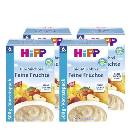 HiPP Bio-Milchbrei Feine Früchte 4 x 500 g ab dem 6. Monat