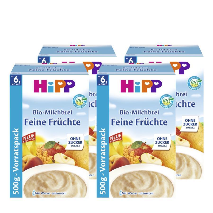 HiPP Bio Milk Mash Fine Fruits 4 x 500g