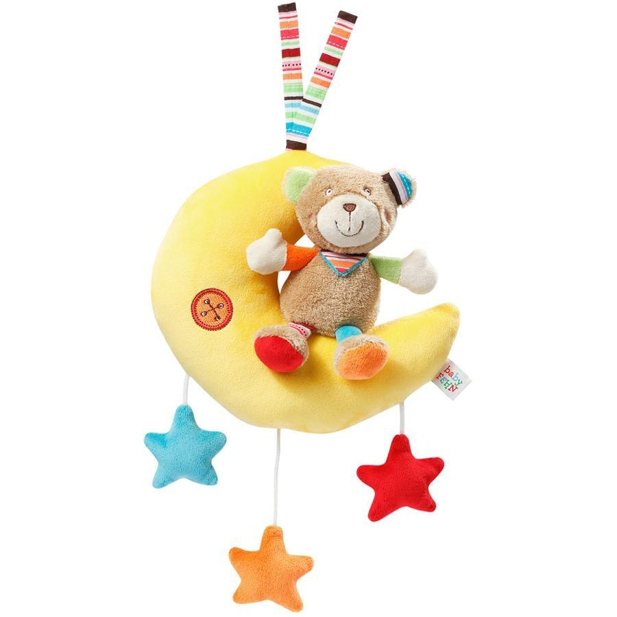 FEHN Peluche con carillon Teddy sulla luna - Oskar
