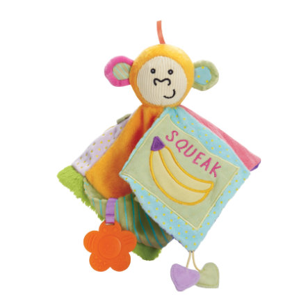 MANHATTAN TOY Baby - Knuffeldoek Peek-Squeak Busy Monkey